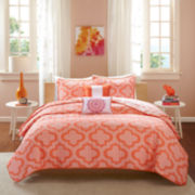 Intelligent Design Elena Reversible Coverlet Set