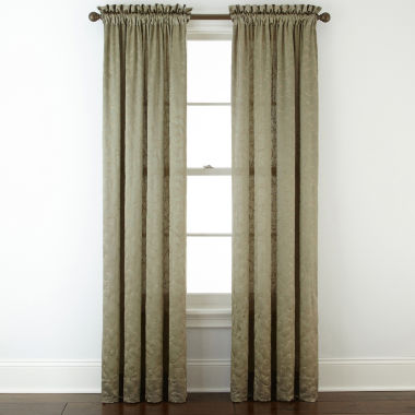 jcpenney.com | Royal Velvet® Hilton Embroidery Rod-Pocket Curtain Panel