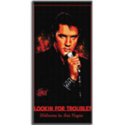 Elvis Looking For Trouble Cotton Beach Towel