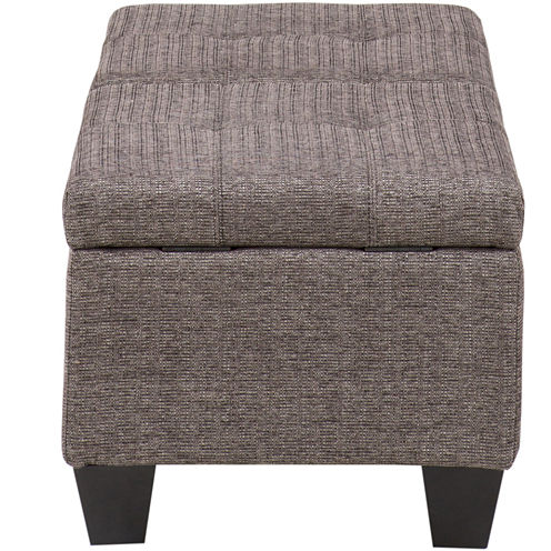 Madison Park Luke Split-Hinged Storage Ottoman
