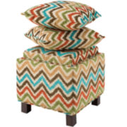 Madison Park Allison Square Storage Ottoman