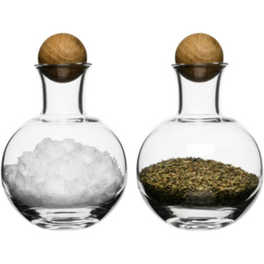 jcpenney.com | Sagaform® Set of 2 Spice & Herb Storage Bottles with Oak Stoppers