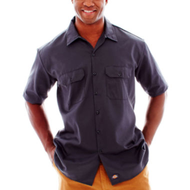 jcpenney.com | Dickies® Short-Sleeve Work Shirt - Big & Tall
