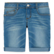 Total Girl® Denim Bermuda Shorts - Girls 7-16 and Plus