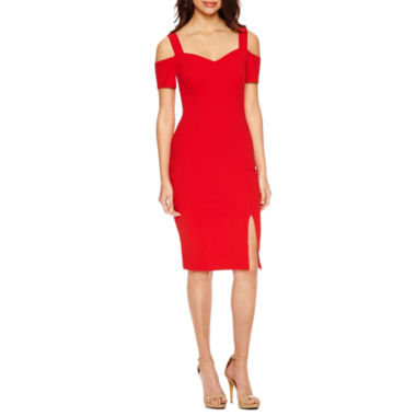 jcpenney.com | Bisou Bisou Cold Shoulder Sweetheart Neck bodycon