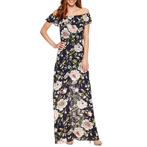 Stella Parker Sleeveless Floral Maxi Dress