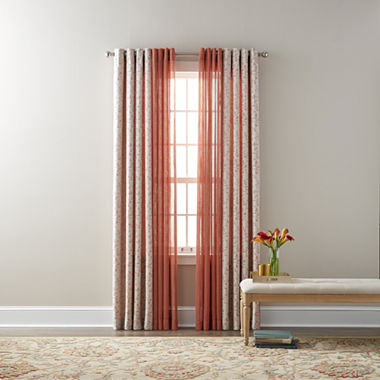 Jcpenney Home Anza Bayview Sheer Grommet Top Curtain