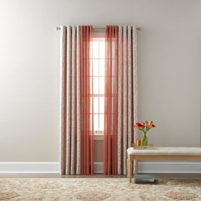Jcpenney.com | JCPenney Home Anza U0026 Bayview Sheer Grommet Top Curtain Panels