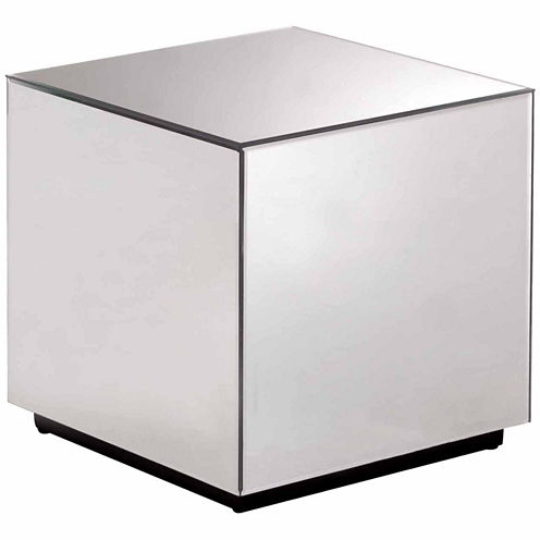 Zuo Modern Cubo Mirrored Side Table Chairside Table