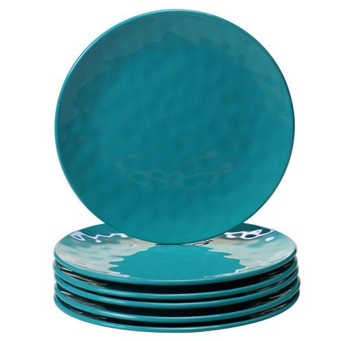 Certified International Teal 6-pc. Salad Plate