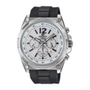 Casio® Edifice Mens White Dial Black Resin Strap Solar Watch EFR545SB-7BV