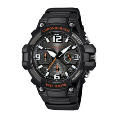 jcpenney.com | Casio® Mens Black Resin Strap Chronograph Watch MCW100-1AV