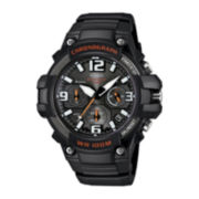 Casio® Mens Black Resin Strap Chronograph Watch MCW100-1AV