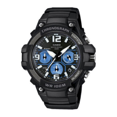 jcpenney.com | Casio® Mens Black Resin Strap Chronograph Watch MCW100-1A2V