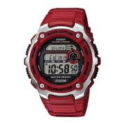 Casio® Wave Ceptor Mens Red Resin Sport Watch WV200A-4AV