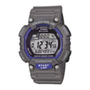 Casio® Mens Gray Resin Strap Solar Sport Watch STLS100H-8AV