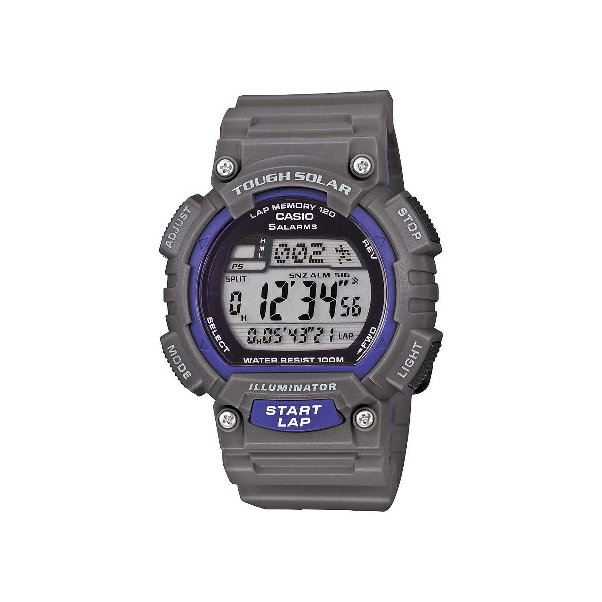 Casio Mens Gray Resin Strap Solar Sport Watch STLS100H-8AV