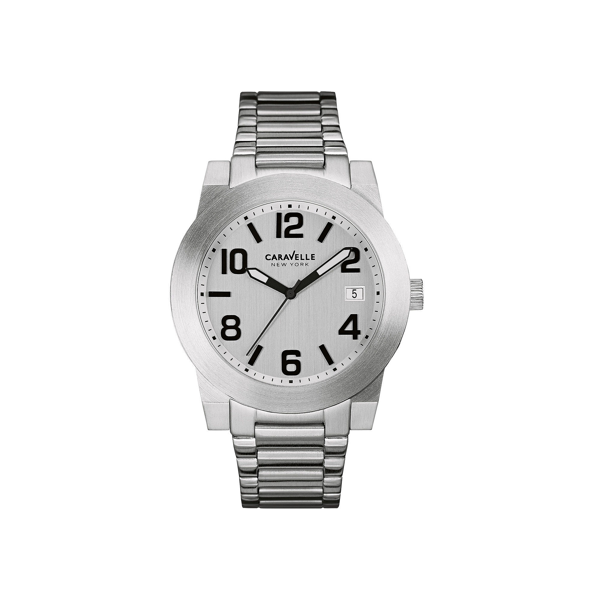 Caravelle New York Mens Stainless Steel Sport Watch 43B142