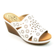 St. John's Bay® Cora Slip-On Wedge Sandals