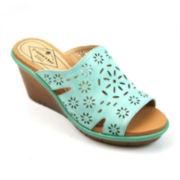 St. John's Bay® Cora Slip-On Wedge Sandals
