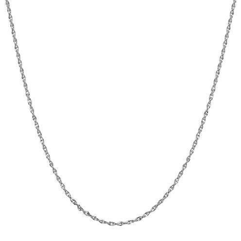 "Infinite Gold™ 14K White Gold 16"" Perfectina Chain Necklace"