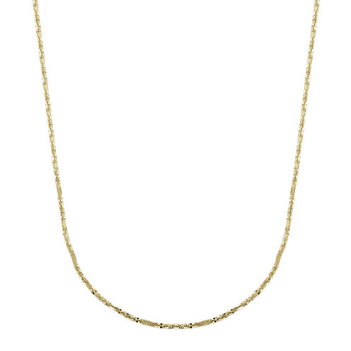 "Infinite Gold™ 14K Yellow Gold 18"" Criss-Cross Chain Necklace"