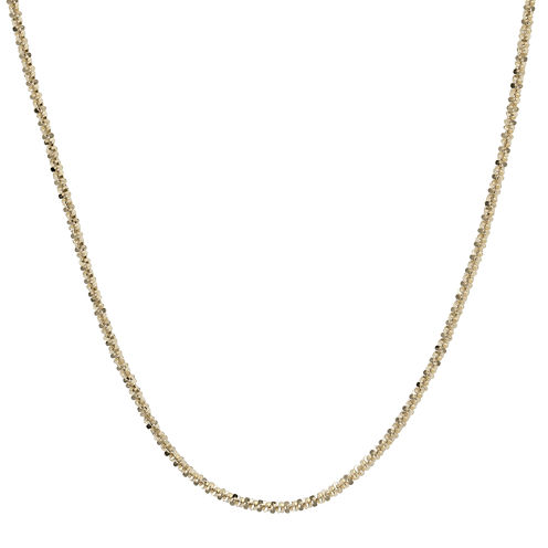 "Made in Italy 14K Yellow Gold 18"" Criss-Cross Chain Necklace"