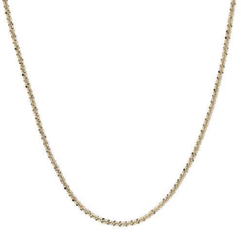 """Made in Italy 14K Yellow Gold 20"""" Criss-Cross Chain Necklace"""