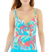 Maidenform Paisley Print Underwire Tankini Swim Top