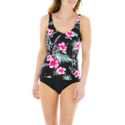 St. John's Bay® Floral Print Tankini Swim Top or High-Waist Bottoms
