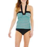 St. John's Bay® Halterkini Swim Top or High-Waist Bottoms