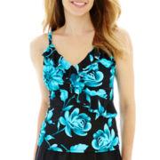 Trimshaper® Floral Print Tankini Swim Top