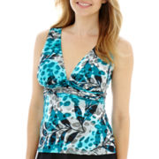 Trimshaper® Animal Print Tankini Swim Top