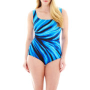 Robby Len by Longitude® U-Back 1-Piece Tank Swimsuit - Plus