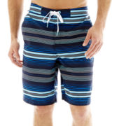 Speedo® Straight Away Striped E-Board Shorts
