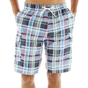 U.S. Polo Assn.® Park Plaid Cargo Swim Trunks