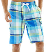 U.S. Polo Assn.® Plaid Cargo Swim Trunks
