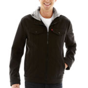 Levi's® Hooded Soft-Shell Trucker Jacket
