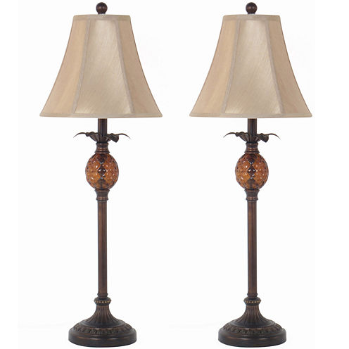 JCPenney Home™ Set of 2 Pineapple Buffet Table Lamps