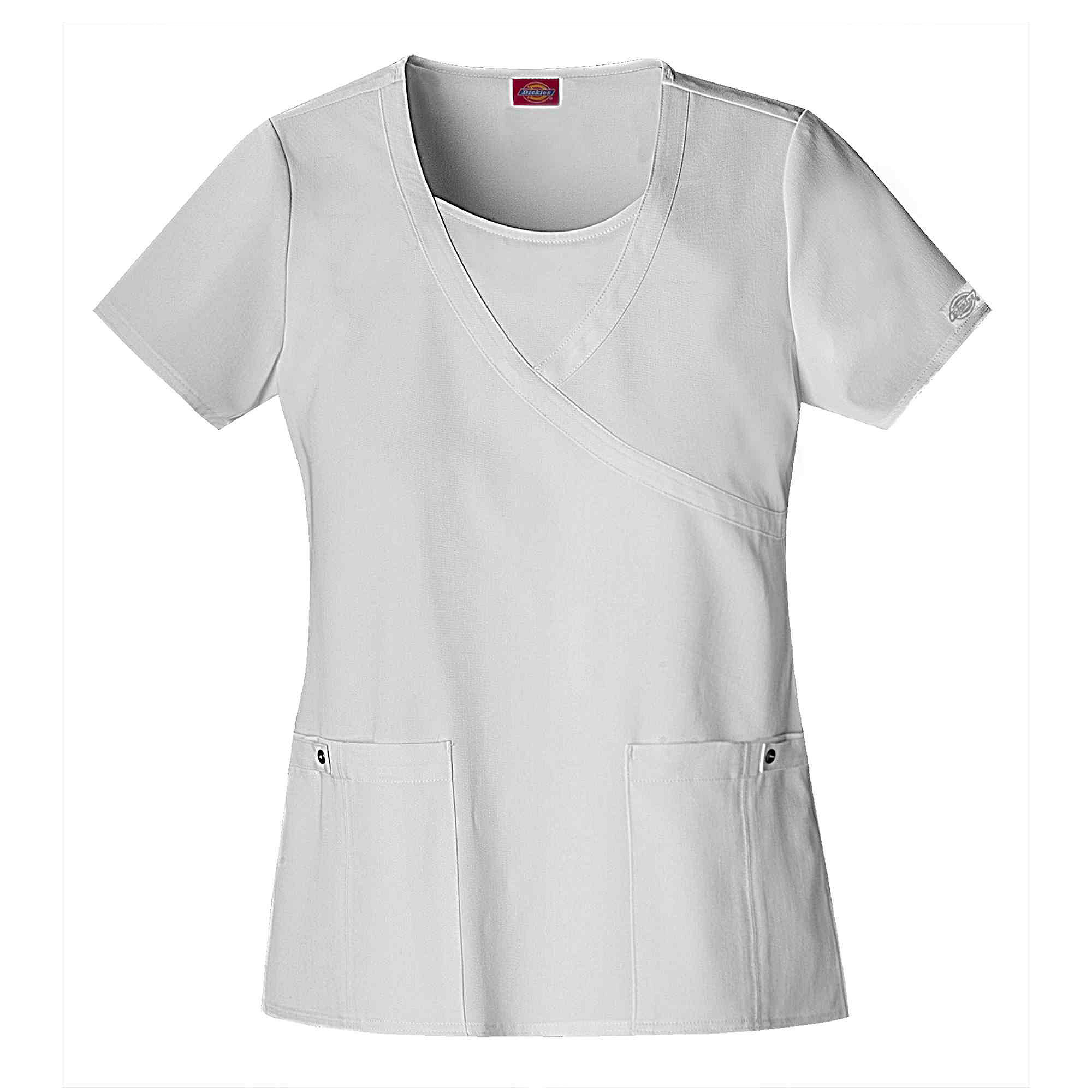 Dickies Womens Mock Wrap Scrub Top-Plus