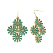 Decree® Gold-Tone Metal 4 Cast Flower Earrings