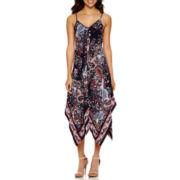 a.n.a® Hanky Hem Print Maxi Dress