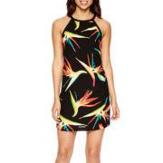 Worthington® Sleeveless Tie-Neck Shift Dress