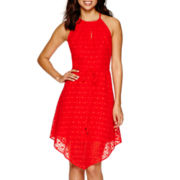 a.n.a® Sleeveless Textured Halter Dress