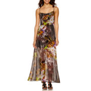 Jennie And Marlis Sleeveless Floral Print Maxi Dress