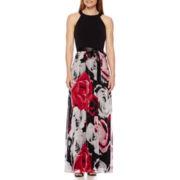 SL Fashions Sleeveless Floral Dress