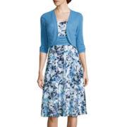 Perceptions Floral Print Jacket Dress