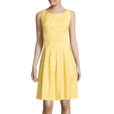 jcpenney.com | R&K Originals® Sleeveless Jacquard Fit-and-Flare Dress