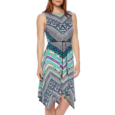 jcpenney.com | R&K Originals® Sleeveless Tribal Print Belted Maxi Dress