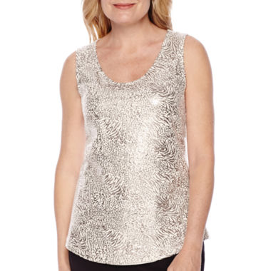 jcpenney.com | Blu Sage Animal-Print Sequin Tank Top